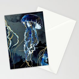 Metallic Ocean III Stationery Cards