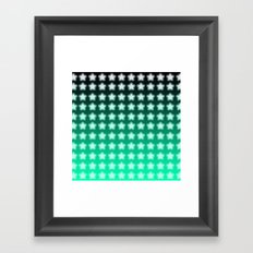 You're a Star! Green and Black! Framed Art Print
