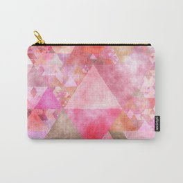 Triangles in pink - Watercolor Illustration pattern Carry-All Pouch