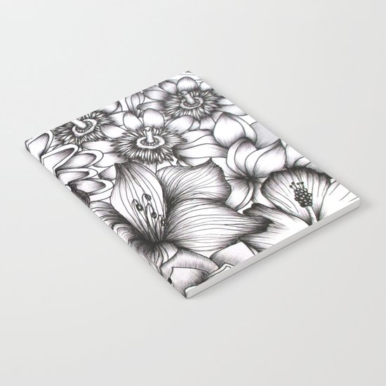 Tropical Flowers Notebook