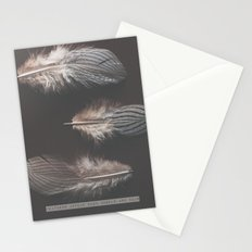 feathers appear when angels are near Stationery Cards