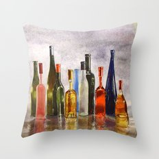 Bottles, oh Bottles! Throw Pillow
