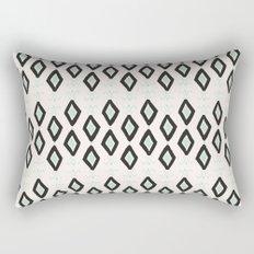Bohemian Diamonds - Dark gray, light blue and cream pattern Rectangular Pillow