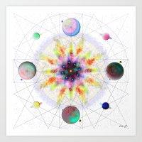 Sacred Planetary Geometry (Light) Art Print