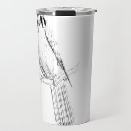 American Kestrel pencil front on Travel Mug