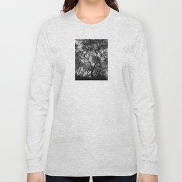 Dramatic London Tree Silhouette Long Sleeve T-shirt