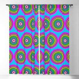 Bright Pastel Rounds Blackout Curtain