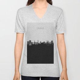 City Skylines: Samara Unisex V-Neck