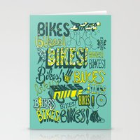 bikes Stationery Cards featuring Bikes! by Matthew Fleming
