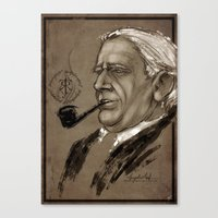 tolkien Canvas Prints featuring J.R.R. Tolkien by Angelica Arfini