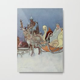"""The Happy Princess"" Fairy Art by Charles Robinson Metal Print"