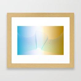 Waves of gradient lines Framed Art Print