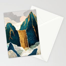 Golden Waterfall Stationery Cards