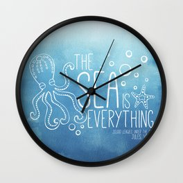 20,000 Leagues Under the Sea - Jules Verne   Quote 1 Wall Clock