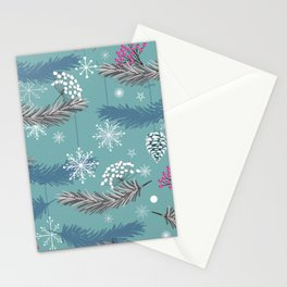 leaves for christmas  Stationery Cards