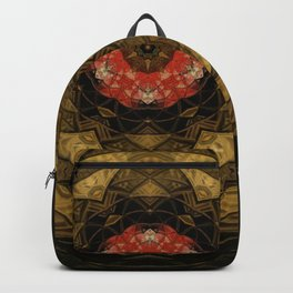 Red and Gold Kaleidoscope Backpack