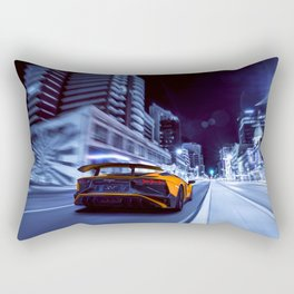 Supercar City night speed Rectangular Pillow