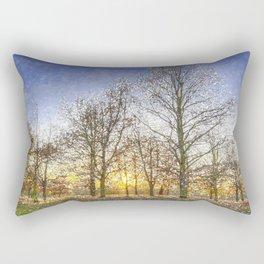 Greenwich Park London Snow Art Rectangular Pillow