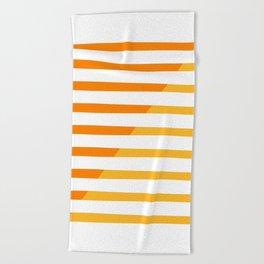 Beach Stripes Orange Yellow Beach Towel