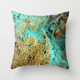 Sapphire Diver Throw Pillow