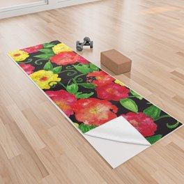 Vintage Wallpaper Black Yoga Towel