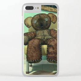 The Old Forgotten Teddy Bear - Still Life Artwork Clear iPhone Case