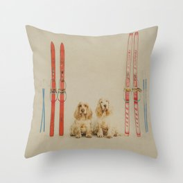 Skiing is believing Throw Pillow