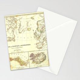 Vintage Map - Spruner-Menke Handatlas (1880) - 63 Nations and Migrations of the Normans Stationery Cards