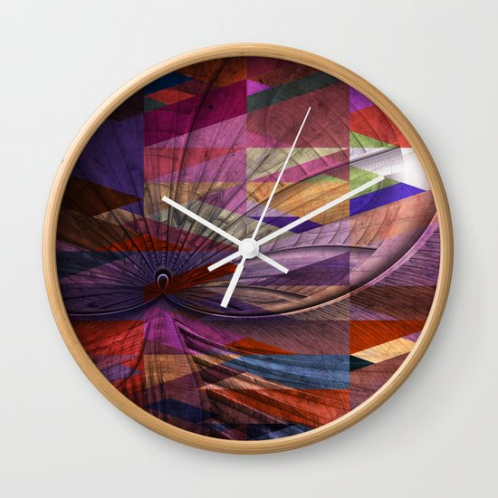Triangle and Fractal Design Wall Clock
