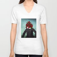 romantic V-neck T-shirts featuring MR. Romantic by Diogo Verissimo