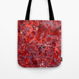 Marble Ruby Blood Red Agate Tote Bag