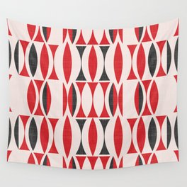 Seventies in Cherry Red (little) Wall Tapestry