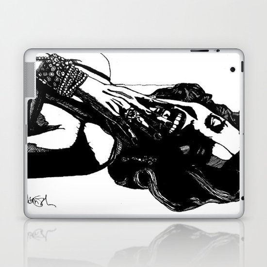 B&W Fashion Illustration - Part 2 Laptop & iPad Skin