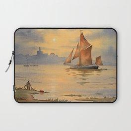 Thames Barge At Sunset Maldon Essex Laptop Sleeve
