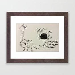 Chickenish Llamas Framed Art Print