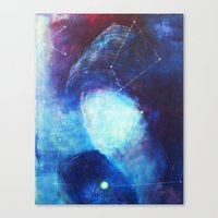 constellation Canvas Prints featuring constellation by Oana Popan