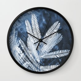 Indigo Breath Wall Clock