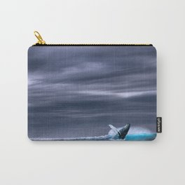 Ocean Blue Whale Sea Carry-All Pouch
