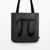 pi Tote Bags featuring Pi by The Colour Wheel