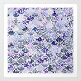 Purple and Ultra Violet Trendy Glitter Mermaid Scales Art Print