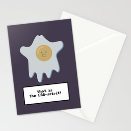 that is the EGG-spirit Stationery Cards