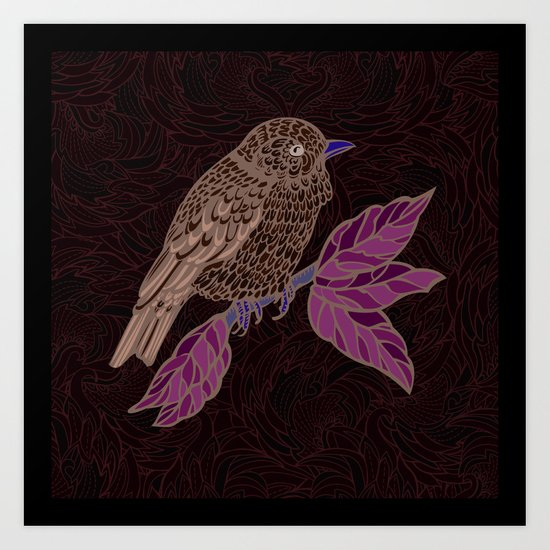 Ornamental bird Art Print