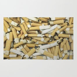 Cigarette butts dirty Rug