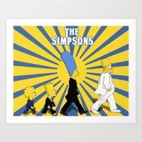 simpson Art Prints featuring Simpson Sun by sgrunfo
