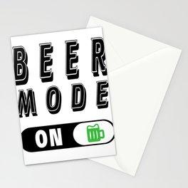 Beer mode on  - I love beer Stationery Cards