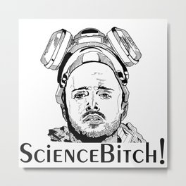 Jesse Pinkman - Aaron Paul - Science Bitch! - Breaking Bad - AMC  Metal Print