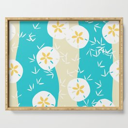 Beachy Sand Dollars + Sandpipers Pattern Serving Tray