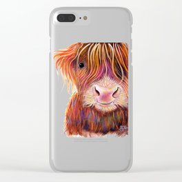 Scottish Highland Cow ' THe KiD 2 ' by Shirley MacArthur Clear iPhone Case