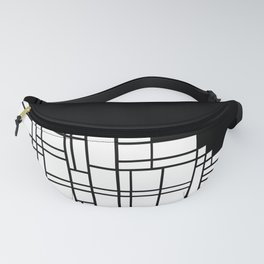 Map Black Boarder Fanny Pack
