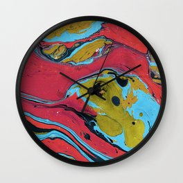 Marble texture 9 Wall Clock